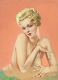 Pin-up and Glamour Art, ALBERTO VARGAS (American, 1896-1982). Varga Girl (PartialNude), circa 1920s-30s. Pastel on board. 28.5 x 21 in.(image)...