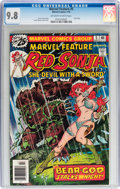 Bronze Age (1970-1979):Adventure, Marvel Feature #5 Red Sonja (Marvel, 1976) CGC NM/MT 9.8 Off-white to white pages....