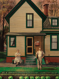 STEVAN DOHANOS (American, 1907-1994) Victory Garden, The Saturday Evening Post cover, May 26, 1951 O