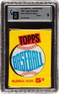 Baseball Cards:Unopened Packs/Display Boxes, 1960 Topps Baseball 2nd Series Wax Pack GAI Mint 9....