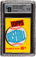 Baseball Cards:Unopened Packs/Display Boxes, 1960 Topps Baseball 4th Series Wax Pack GAI NM+ 7.5 - Possible Mantle, Aaron, Koufax, McCovey Rookie! ...