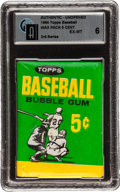 Baseball Cards:Unopened Packs/Display Boxes, 1964 Topps Baseball 3rd Series Wax Pack GAI EX-MT 6. ...