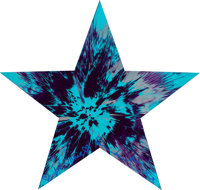 DAMIEN HIRST (British, b. 1965) Untitled (star spin painting), 2011 Acrylic and metallic paint on pa