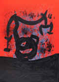 Prints:European Modern, JOAN MIRÓ (Spanish, 1893-1983). Equilibre Sur L'Horizon,1969. Lithograph in colors on Rives BFK. 33-1/2 x 23-3/4 inches...