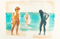 Post-War & Contemporary:Contemporary, ERIC FISCHL (American, b. 1948). Untitled (Beach), 1989.Color aquatint. 35-1/2 x 54 inches (90.2 x 137.2 cm). Ed. 44/10...