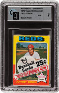 Baseball Cards:Singles (1970-Now), . 1975 Topps Baseball Mini Cello Pack GAI NM 7 - Bench Top Card....