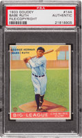 Baseball Cards:Singles (1930-1939), 1933 Goudey Babe Ruth #144 U.S. Patent/Copyright Card PSAAuthentic. ...