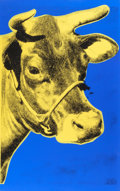Post-War & Contemporary:Pop, ANDY WARHOL (American, 1928-1987). Cow, 1973. Colorscreenprint on wallpaper. 45-3/4 x 28-1/4 inches (116.2 x 71.8 cm)....