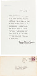 "Autographs:Authors, Margaret Mitchell Typed Letter Signed ""Margaret MitchellMarsh."" One page, 7"" x 11"", on her personal letterhead,Atlanta..."