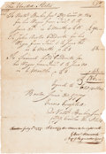 Autographs:Military Figures, [Revolutionary War] Autograph Document Authorizing Payment of $620 Dollars to Soldiers For Back Pay Signed by Major General Wi...
