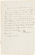 Autographs:Military Figures, Philip Schuyler War Dated Autograph Letter Signed...