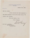 """Autographs:Celebrities, Elbert Henry Gary Typed Letter Signed as Chairman of the Board of United States Steel Corporation """"E. H. Gary.""""..."""