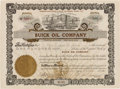 "Autographs:Celebrities, David D. Buick Stock Certificate Signed as President of Buick OilCompany ""D. D. Buick.""..."