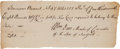 "Autographs:Statesmen, Signer of the Articles of Confederation William Duer AutographDocument Signed ""Wm. Duer, Member of Convention of theStat..."