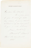"Autographs:Artists, David Chester French Autograph Letter Signed ""David C.French.""..."