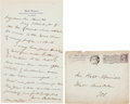"Autographs:Celebrities, Jane Addams Autograph Letter Signed ""Jane Addams.""..."