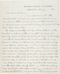 "Autographs:Military Figures, John Pope War Date Autograph Letter Signed ""Jno. Pope.""..."