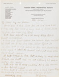"Autographs:Inventors, George Washington Carver Autograph Letter Signed ""G. W.Carver.""..."