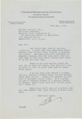 "Autographs:Celebrities, Edward R. Murrow Typed Letter Signed ""Ed.""..."