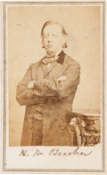 "Autographs:Celebrities, Henry Ward Beecher Carte de Visite Signed ""H. W.Beecher.""..."