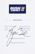 "Autographs:U.S. Presidents, George W. Bush 2004 Campaign Brochure Signed ""George Bush.""..."