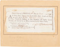 "Autographs:Statesmen, Declaration of Independence Signer Francis Hopkinson DocumentSigned ""F. Hopkinson."" One page, 8.25"" x 4"", partiallypri..."
