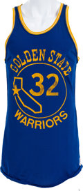 Basketball Collectibles:Uniforms, 1973-74 Cazzie Russell Game Worn Golden State Warriors Jersey. ...(Total: 2 item)