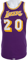 Basketball Collectibles:Uniforms, 1974-75 Brian Winters Game Worn Los Angeles Lakers Jersey. ...