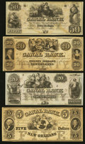 Obsoletes By State:Louisiana, New Orleans, LA- Canal Bank $5; $20 (2); $50 18__. ... (Total: 4 notes)