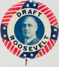 Franklin D. Roosevelt: Scarce Picture Pin