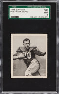Football Cards:Singles (Pre-1950), 1948 Bowman Frank Seno #14 SGC 96 Mint 9 - Pop One, Single Highest SGC Example! ...