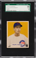 Baseball Cards:Singles (1940-1949), 1949 Bowman Ralph Hamner #212 SGC 98 Gem 10 - One of Only Three SGCGem MTs for the Set! ...