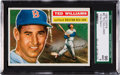 Baseball Cards:Singles (1950-1959), 1956 Topps Ted Williams #5 SGC 96 Mint 9 - Pop Four, None Higher. ...
