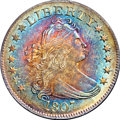 Early Quarters, 1807 25C MS66 ★ NGC. CAC. B-2, R.3....