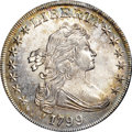 Early Dollars, 1799 $1 7x6 Stars MS67 NGC. B-5, BB-157, R.2....