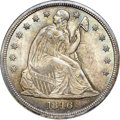 Seated Dollars, 1846 $1 MS65+ NGC. CAC....