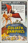 """Movie Posters:Horror, Goliath and the Vampires (American International, 1964). One Sheet (27"""" X 41""""). Horror.. ..."""