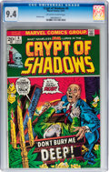 Bronze Age (1970-1979):Horror, Crypt of Shadows #6 (Marvel, 1973) CGC NM 9.4 Off-white to whitepages....