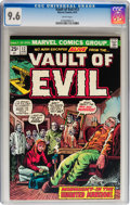 Bronze Age (1970-1979):Horror, Vault of Evil #12 (Marvel, 1974) CGC NM+ 9.6 White pages....