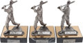 "Autographs:Others, Stan Musial Signed ""The Legend Lives"" Pewter Statues Lot of 3...."