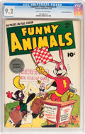 Golden Age (1938-1955):Funny Animal, Funny Animals #9 Crowley Copy/File Copy (Fawcett Publications, 1943) CGC NM- 9.2 Cream to off-white pages....