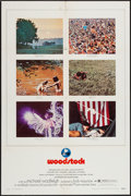 "Movie Posters:Rock and Roll, Woodstock (Warner Brothers, 1970). One Sheet (27"" X 41"") &Deluxe Photos (2) (11"" X 13"") & Mini Lobby Cards (4) (8"" X10""). ... (Total: 7 Items)"