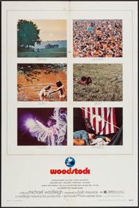 "Woodstock (Warner Brothers, 1970). One Sheet (27"" X 41"") & Deluxe Photos (2) (11"" X 13"") & M..."