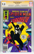 Modern Age (1980-Present):Superhero, Marvel Team-Up #141 Spider-Man and Daredevil - Signature Series(Marvel, 1984) CGC NM/MT 9.8 White pages....
