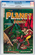 Golden Age (1938-1955):Science Fiction, Planet Comics #73 (Fiction House, 1953) CGC VF- 7.5 Off-white towhite pages....