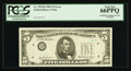 Error Notes:Missing Third Printing, Fr. 1976-D $5 1981 Federal Reserve Note PCGS Gem New 66PPQ.. ...