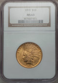 Indian Eagles, 1915 $10 MS63 NGC....