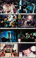 """Movie Posters:Science Fiction, A Clockwork Orange (Warner Brothers, 1971). Mini Lobby Card Set of 8 (8"""" X 10""""). Science Fiction.. ... (Total: 8 Items)"""