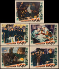 "Movie Posters:War, Destination Tokyo (Warner Brothers, 1943). Lobby Cards (5) (11"" X14""). War.. ... (Total: 5 Items)"