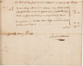 "Autographs:Statesmen, Lewis Morris, Signer of the Declaration of Independence, AutographDocument Twice Signed ""Lewis Morris."" One page, appro..."